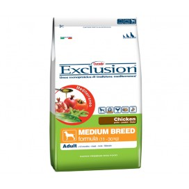 EXCLUSION MEDITERRANEO ADULT MEDIUM CON POLLO KG.12,5