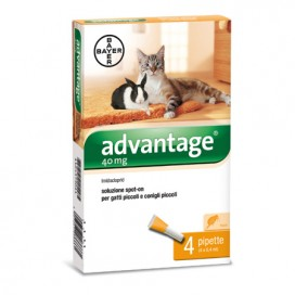 ADVANTAGE 40 SPOT ON GATTO E CONIGLI FINO A 4 KG