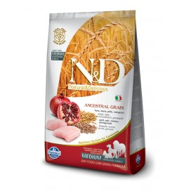 N&D ADULT MEDIUM FOGLIA GIALLA POLLO E MELOGRANO KG. 2,5