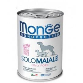 BOX 4 PZ. MONGE CANE SOLO MAIALE GR. 400