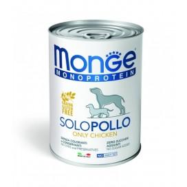 BOX 4 PZ. MONGE CANE SOLO POLLO GR. 400