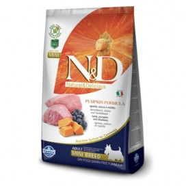 N&D ADULT MINI ZUCCA, AGNELLO E MIRTILLO KG. 2,5
