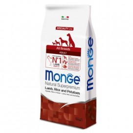 MONGE ALL BREEDS ADULT AGNELLO,RISO,PATATE  KG. 12