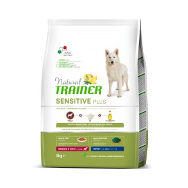 SENSITIVE PLUS ADULT MEDIUM&MAXI CAVALLO RISO E OLIO 12 KG.