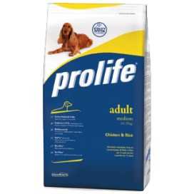 PROLIFE CANE ADULT MEDIUM POLLO E RISO 3 KG.