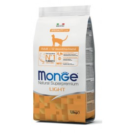MONGE CAT NAT.LIGHT TACCHINO 1,5KG