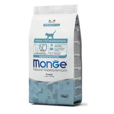 MONGE GATTO MONOPROTEICO KITTEN TROTA 400 G