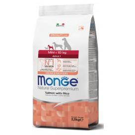 MONGE MINI ADULT SALMONE E RISO 2,5KG