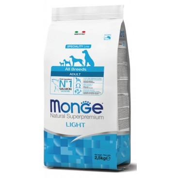MONGE ALL BREEDS LIGHT SALMONE E RISO KG. 2,5