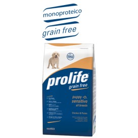PROLIFE CANE SENSITIVE MEDIUM&LARGE POLLO E PATATE GRAIN FREE 12 KG.