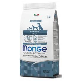 MONGE ALL BREEDS ADULT MONPROTEICO TROTA 2,5KG