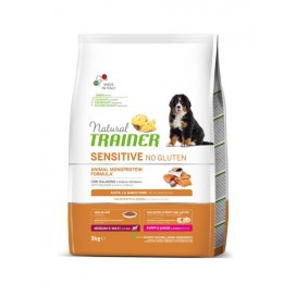 NAT TRAINER SENSITIVE NO GLUTEN PUPPY JUNIOR SALMONE KG 3 FLAS