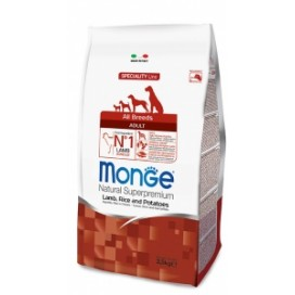 MONGE ALL BREEDS ADULT AGNELLO,RISO,PATATE  KG. 2,5