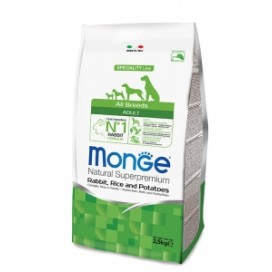 MONGE ALL BREEDS ADULT CONIGLIO,RISO,PATATE  KG. 2,5