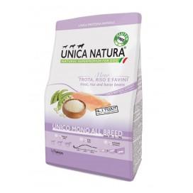UNICA NATURA  ALL BREEDS TROTA, RISO E FAVINI 2,5KG