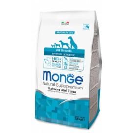MONGE HYPOALLERGENIC SALMONE E TONNO KG. 2,5