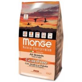 MONGE GRAIN FREE ANATRA E PATATE KG. 2,5