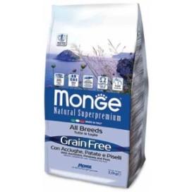 MONGE GRAIN FREE ACCIUGHE,PATATE,PISELLI KG. 2,5