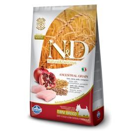 N&D ADULT MINI FOGLIA GIALLA POLLO & MELOGRANO KG. 2,5