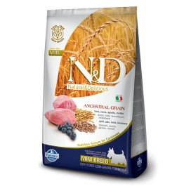 N&D ADULT MINI FOGLIA GIALLA AGNELLO E MIRTILLO KG. 2,5