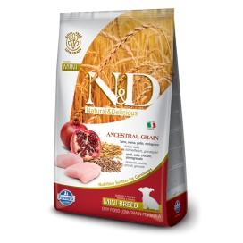 N&D PUPPY MINI FOGLIA GIALLA POLLO & MELOGRANO KG. 2,5