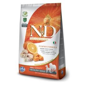 N&D ZUCCA ADULT MEDIUM&MAXI GRAIN FREE MERLUZZO  E ARANCIA KG. 2,5