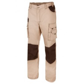 PANTALONI BICOLORE CANVAS MULTITASCHE