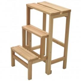 Sgabello retrattile 3 gradini in legno veniciato