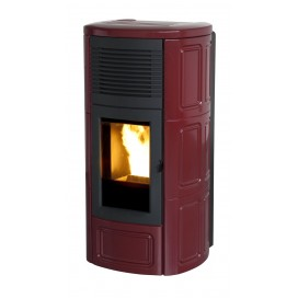 Stufa pellet MCZ Mod. Suite Air 9,5 KW Col.Metal Bordeaux