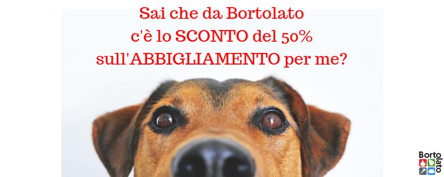 Abbigliamento per cani in offerta 50% di sconto!